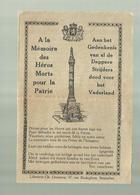 """** 1 X Aan Het Gedenkenis Van Al De Dappere Strijders ,dood Voor Het Vaderland 1914-18-""""""""Gebeden """""""" FR/VL - Army & War"""
