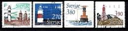Suède 1989 Mi.Nr.: 1526-1529 Leuchttürme  Oblitérés / Used / Gestempeld - Sweden