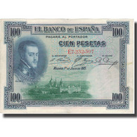 Billet, Espagne, 100 Pesetas, 1925, 1925-07-01, KM:69c, TTB - [ 2] 1931-1936 : Repubblica