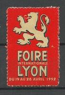 FRANKREICH France 1952 Foire Internationale Lyon Advertising Stamp Vignette * - Advertising