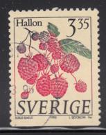 Sweden 1995 Used Scott #2002 3.35k Rubus Idaeus Raspberries - Suède