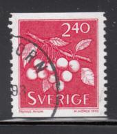 Sweden 1993 Used Scott #2004 2.40k Prunus Avium Wild Cherries Coil - Suède