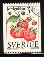 Sweden 1995 Used Scott #2008 3.35k Fragaria Ananassa Strawberries Coil - Suède