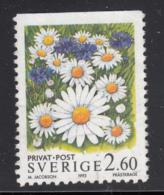 Sweden 1993 Used Scott #2013 2.60k Ox-eye Daisies - Suède