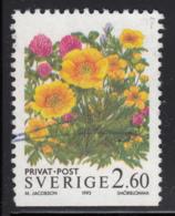 Sweden 1993 Used Scott #2015 2.60k Buttercups - Suède