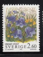 Sweden 1993 Used Scott #2016 2.60k Bluebells - Suède