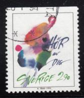 Sweden 1993 Used Scott #2025 2.90k Flower Greetings - Suède