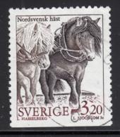 Sweden 1994 Used Scott #2048 3.20k Two North Sweden Horses - Suède