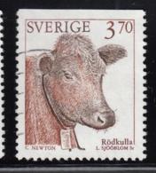 Sweden 1995 Used Scott #2049 3.70k Red Polled Cattle - Suède