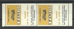 FRANKREICH France 1965 TPG Exhibition Paris A Pair Advertising Stamp Vignette MNH - Advertising
