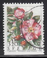 Sweden 1994 Used Scott #2071 3.20k Nyponros Rosa Dumalis Roses - Suède