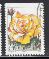 Sweden 1994 Used Scott #2074 3.20k Peace Roses - Suède