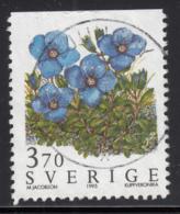 Sweden 1995 Used Scott #2121 3.70k Rock Speedwell Wild Flowers - Suède