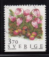 Sweden 1995 Used Scott #2123 3.70k Mountain Heath Wild Flowers - Suède