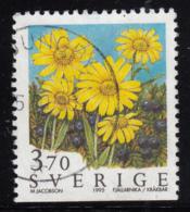 Sweden 1995 Used Scott #2124 3.70k Alpine Arnica Wild Flowers - Suède