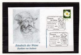 BRD, 2010, Karte Mit Michel 2451 Und Sonderstempel, Friedrich Der Weise - Covers