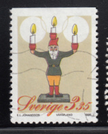 Sweden 1995 Used Scott #2151 3.35k Santa Christmas Candlestick - Suède