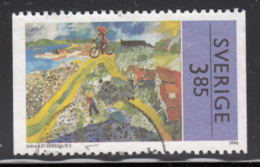 Sweden 1996 Used Scott #2176 3.85k Painting By Sven X-Et Erixson - Suède