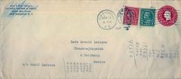 1927 , ESTADOS UNIDOS , SOBRE ENTERO POSTAL  CIRCULADO, NEW ROCHELLE - GÖTEBORG - 1921-40