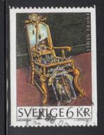Sweden 1996 Used Scott #2199 6k The Baroque Chair, Endre Nemes Joint Czech Rep., Slovakia - Suède