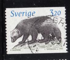 Sweden 1997 Used Scott #2207 3.20k Gulo Gulo Wolverine - Suède