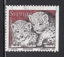 Sweden 1997 Used Scott #2221 (5k) Panthera Unica, Cubs - Suède