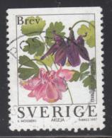 Sweden 1997 Used Scott #2229 (5k) Aquilegia Vulgaris Garden Flowers - Suède