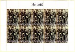 Kosovo Stamp 2018. Army Heroes - Toni & Mici. Mini Sheet MNH - Kosovo