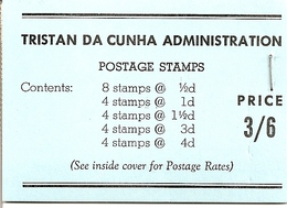 TRISTAN DA CUNHA, 1957, Booklet 1a, 3/6, Black On Blue Cover, With 24 JA 58 On Back Cover - Tristan Da Cunha