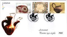 Kosovo Stamp 2018. Artisan – Clay Works. FDC Set MNH - Kosovo
