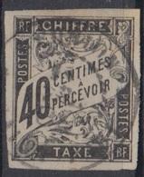 #134# COLONIES GENERALES TAXE N° 10 Oblitéré Saint-Paul (Réunion) - Impuestos
