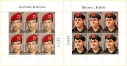 Kosovo Stamp 2018. Heroes - Bekim Berisha & Bedri Shala. Mini Sheet MNH - Kosovo