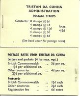 TRISTAN DA CUNHA, 1965, Booklet 4,  4/2 Queen, South Atlantic Map - Tristan Da Cunha