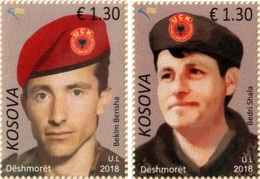 Kosovo Stamp 2018. Heroes - Bekim Berisha & Bedri Shala. Set MNH - Kosovo