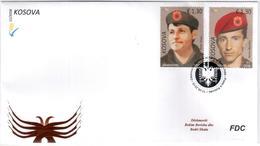 Kosovo Stamp 2018. Heroes - Bekim Berisha & Bedri Shala. FDC MNH - Kosovo