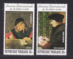 TOGO N°  881, AERIENS 264 ** MNH Neufs Sans Charnière, TB (D8176) Semaine De La Lettre écrite, Tableaux -1975 - Togo (1960-...)
