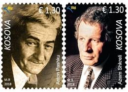 Kosovo Stamp 2018. Personalities, Writers: Anton Pashku, Azem Shkreli. Set MNH - Kosovo