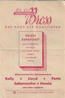 Facture Schuhhaus BADEN BADEN 1954 - Allemagne