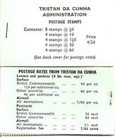 TRISTAN DA CUNHA, 1970, Booklet 4a,  4/2 Queen, South Atlantic Map, Reprint - Tristan Da Cunha