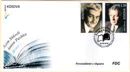 Kosovo Stamp 2018. Personalities, Writers: Anton Pashku, Azem Shkreli. FDC Set MNH - Kosovo