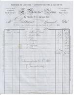 FABRIQUE DE LIQUEURS-ENTREPOT DE VINS & EAU-DE-VIE - L. BOURDIER JEUNE  SAINT AMAND  CHER 1884  FACTURE - 1800 – 1899