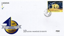 Kosovo Stamps 2018. 10-th Anniversary Of Independence. FDC Set MNH - Kosovo