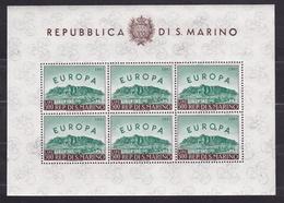 1961 San Marino Saint Marin EUROPA CEPT FOGLIETTO Di 6v. MNH** EUROPE Souvenir Sheet - Europa-CEPT