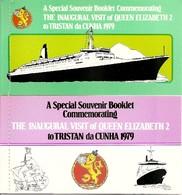 TRISTAN DA CUNHA, 1979, Booklet A/b,  Souvenir Visiti QE2 Pair - Tristan Da Cunha