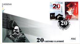 Kosovo Stamps 2018. 20th Anniv Glory Of Liberation. Bird, Pigeon, Dove. FDC Set MNH - Kosovo