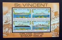 St.Vincent 1974 SGMS391/Sc#374a Cruise Ships Minisheet (MNH). - St.Vincent (...-1979)