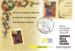 ITALIA - FDC - CARTOLINA MAXIMUM CARD 2009 - GIORNATA DELLA LINGUA ITALIANA. - F.D.C.