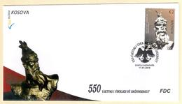 Kosovo Stamps 2018. 550th Anniversary Of Skanderbeg's Death. FDC Set MNH - Kosovo