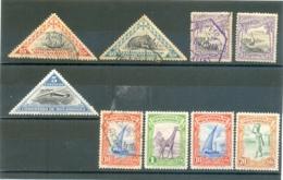 """Petit Lot """" COMPAGNIE DU MOZAMBIQUE """" Les 9 Timbres - Stamps"""