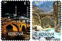 Kosovo Stamps 2018. Europa CEPT: Bridges. Set MNH - Kosovo